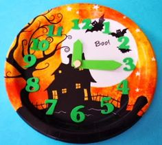 Learning Ideas - Grades K-8: Halloween Paper Plate Clock