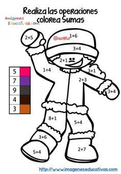 Fichas colorear sumas y restas (1)                                                                                                                                                                                 Más