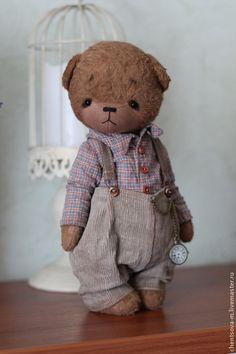 Teddy Bears handmade.  Misha ... Maria Chentsova.  Shop Online Fair Masters.  Teddy bears, collector bears, brown