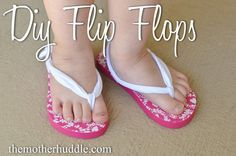 DIY Clothing & Tutorials: fabric embellished flip flops!