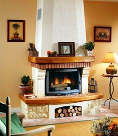 Harmónia függönyszalon added a new photo. Cozy Fireplace, Fireplace Design, Pizza Oven Outdoor, Hidden Tv, Southwest Decor, Interior Decorating, Interior Design, Diy And Crafts, Sweet Home