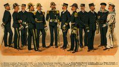 Stejnokroje c. armády a námořnictva v letech :: primaplana. Military Art, Military History, Military Uniforms, Austria, Marine Uniform, Austro Hungarian, Croatia, Empire, Navy