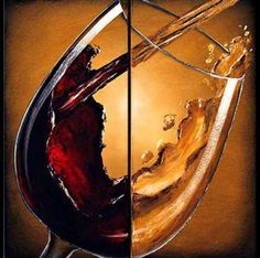 wine pouring into glass oil painting - Google Search