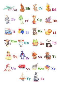 ABC Alphabet Poster A3 Print Toy Alphabet by TinyRed on Etsy, £22.25