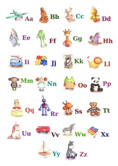 ABC Alphabet Poster A3 Print Toy Alphabet by TinyRed on Etsy, £22.25