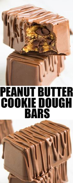 Quick and easy eggless PEANUT BUTTER COOKIE DOUGH BARS that's made with 5 ingredients! This edible cookie dough is a rich, fudgy and healthy no bake dessert. {Ad} From cakewhiz.com