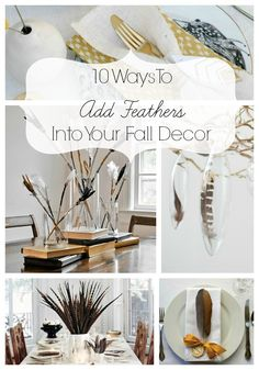 10 Ways To Add Feathers Into Your Fall Decor via @Taryn H {Design, Dining + Diapers}