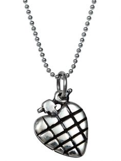 """Heart Grenade"" Charm Necklace by Femme Metale"