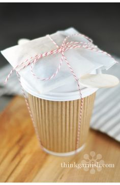 Appreciation gift: tea and cookies