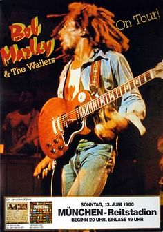 June 13, 1980: Bob Marley & The Wailers Concert Poster (Germany)