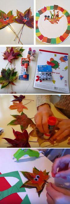 Hand Print Turkeys & Leaves  | Click for 30 DIY Thanksgiving Crafts for Kids to Make | Easy Thanksgiving Crafts for Toddlers to Make