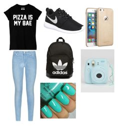 """""""Untitled #10"""" by kacywyman-2 on Polyvore featuring beauty, 7 For All Mankind, NIKE and adidas Originals"""