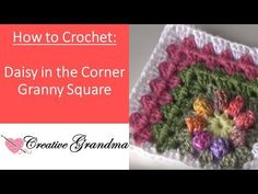 [Video Tutorial] Non Traditional Granny Square With A Daisy In The Corner - Knit. [Video Tutorial] Non Traditional Granny Square With A Daisy In The Corner – Knit And Crochet Dail Granny Square Crochet Pattern, Crochet Blocks, Crochet Flower Patterns, Crochet Squares, Crochet Granny, Blanket Crochet, Crochet Daisy, Free Crochet, Granny Square Häkelanleitung