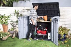 Keter 245009 Store-It-Out Ace Resin Outdoor Storage Shed 39 Cubic Foot >>> To view further for this item, visit the image link.-It is an affiliate link to Amazon.