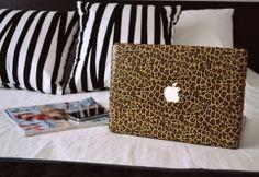 leopard laptop skin