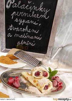 Perníkové palačinky plněné tvarohem a malinami Treats, Breakfast, Sweet, Mille Crepe, Dutch, Pancakes, Baby, Sweet Like Candy, Pancake
