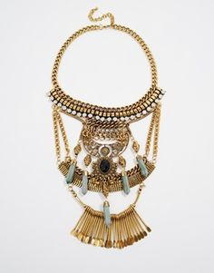 Nylon Sunny Statement Necklace
