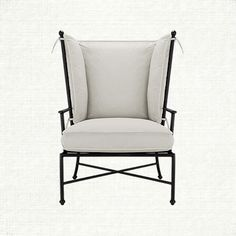 """Arhaus outdoor Pinterest contest"" Santorini Outdoor Lounge Chair with Cushion in Sundial Spa 