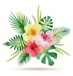 Watercolor bouquet vector on VectorStock