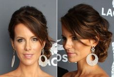 Side-Swept Updo of Kate Beckinsale as Prom Hairstyle for Women- Latest Trends