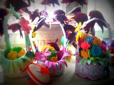Easter baskets with eggs ....kviling ....