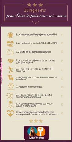 """Suivez ces 10 règles d'or pour en finir avec les """"je ne m'aime pas"""" et enfin fa... - #avec #ces #dor #en #enfin #fa #finir #je #Les"""