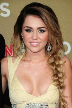 Miley cyris braid hairstyle