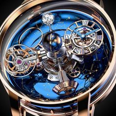 Never-Before-Seen Complication; Sidereal display in Three Dimensions Oval Sky Indicator and a 24-hour Day and Night Display Exclusive Jacob & Co. Astronomiasky.