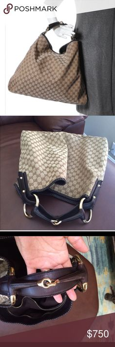 GUCCI HORSEBIT HOBO XL Lightly used bag with some light signs of wear on Handle and bottom corners.... Open to trades Gucci Bags