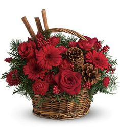 Traditional Christmas Gift Basket Idea