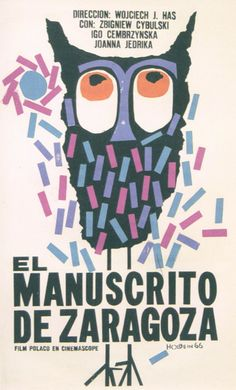 Cuban movie poster by Holbein Lopez, 1965, The Saragossa Manuscript.