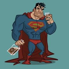 Superman The Drinker - fell on hard times Marvel Funny, Funny Comics, Marvel Dc, Dc Comics, Funny Batman, Justice League Hd Wallpaper, Comic Book Characters, Comic Books, Wonder Woman Drawing