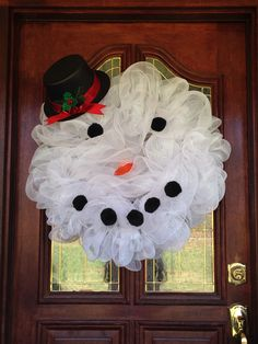 Marsha's snowman wreath 2015