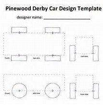 Use This Handy Template To Sketch Out Your Pinewood Derby Car