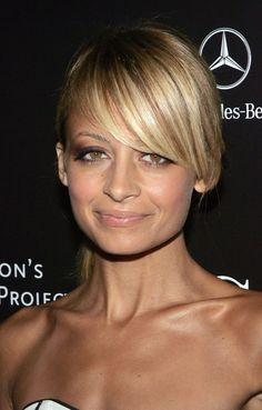 nicole richie bangs for round face - Google Search