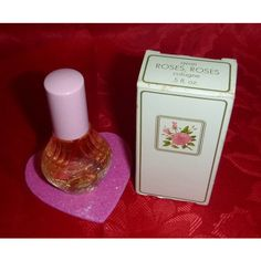 70s Avon ROSES, Roses Cologne Vintage Fragrance Bottle 1970's Perfume Shabby Victorian Chic Decor Romantic Vanity Beauty Collectible Dab On featuring polyvore beauty products fragrance cologne perfume parfum fragrance avon cologne eau de cologne avon perfume
