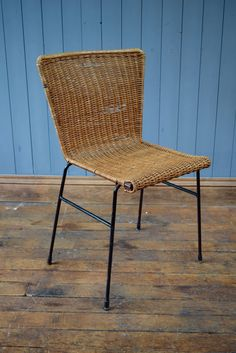 Vintage Wicker Woven Cane Dinning Chair Desk Chair Mid-Century - CAN DELIVER