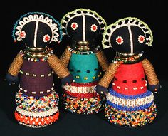 Indigo Arts Gallery   Art from Africa   Ndebele Dolls from South Africa