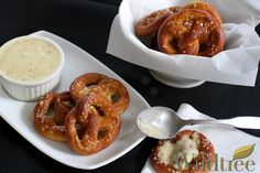 So Quick & Easy Pretzel with Cheesy Mustard Dipping Sauce!    www.Facebook.com/wildtreeofficial