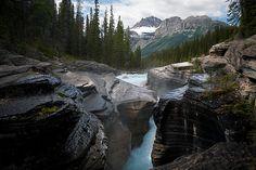 Mistaya River in Alberta