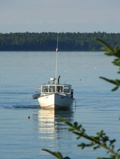 Maine..Lobster boat.  Early in the morning
