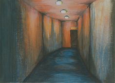 Exit through the creepy hallway. Let it go, don't fear no more. This was an exercise in the art class during my Dreamworks Animation FX Challenge training. Made using Acrylic Colors on a cloth canvas. Dreamworks Animation, Do Not Fear, Acrylic Colors, Over The Years, My Drawings, Fun Stuff, Creepy, Door Handles, Challenge