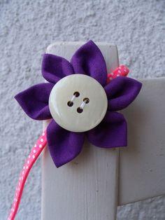 Haarschmuck Kinder Reifen Haar lila pink neon von Krimskrämerei auf DaWanda.com