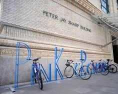 alphabet bike rack by David Byrne