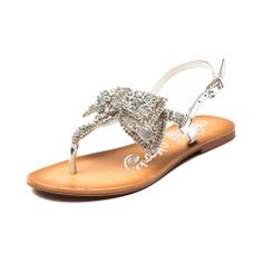 Womens Naughty Monkey Jeweled Delight Sandal, Silver | Journeys Shoes If these weren't 60 bucks, I would want them