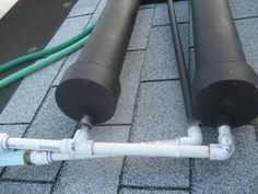 How to make a small scale DIY solar hot water heater.