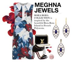 """MEGHNA JEWELS-Bora Bora collection"" by gabyidc ❤ liked on Polyvore featuring Christian Louboutin, Erdem and MAC Cosmetics"