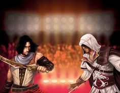 Video Game Versus Created by Bndr One Ezio, Assassins Creed Art, Prince Of Persia, Picture Blog, Who Will Win, Video Game, Batman, Assassin's Creed, Anime