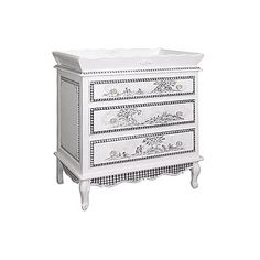 Toile Three Drawer French Versatile Dresser and Luxury Baby Cribs in Baby Furniture Baby Nursery Decor, Nursery Furniture, Nursery Design, Paint Furniture, Kids Furniture, Three Drawer Dresser, Dresser Drawers, Dressers, Luxury Home Decor