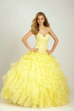 Yellow Beauty and the Beast themed Quinceañera dress! http://www.quinceanera.com/decorations-themes/guest-beautiful-beauty-beast-themed-quinceanera/?utm_source=pinterest&utm_medium=article&utm_campaign=122814-guest-beautiful-beauty-beast-themed-quinceanera